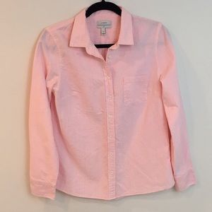 J. Crew Boy Fit Pink Striped Button Down Size 8